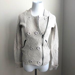 Buckle Daytrip Oatmeal Cream Cardigan Sweater S